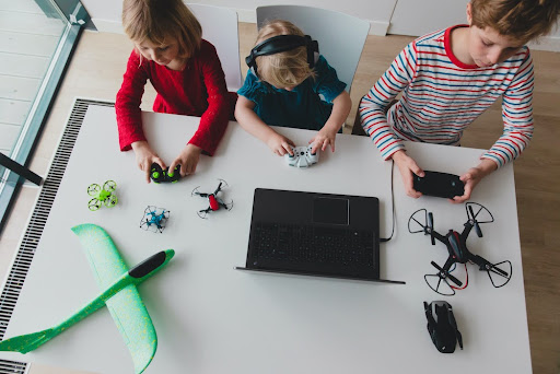 Children and drones