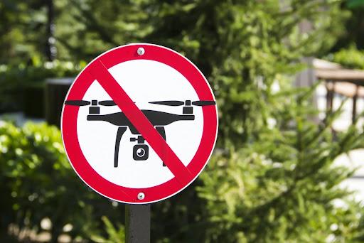 ドローン禁止の看板